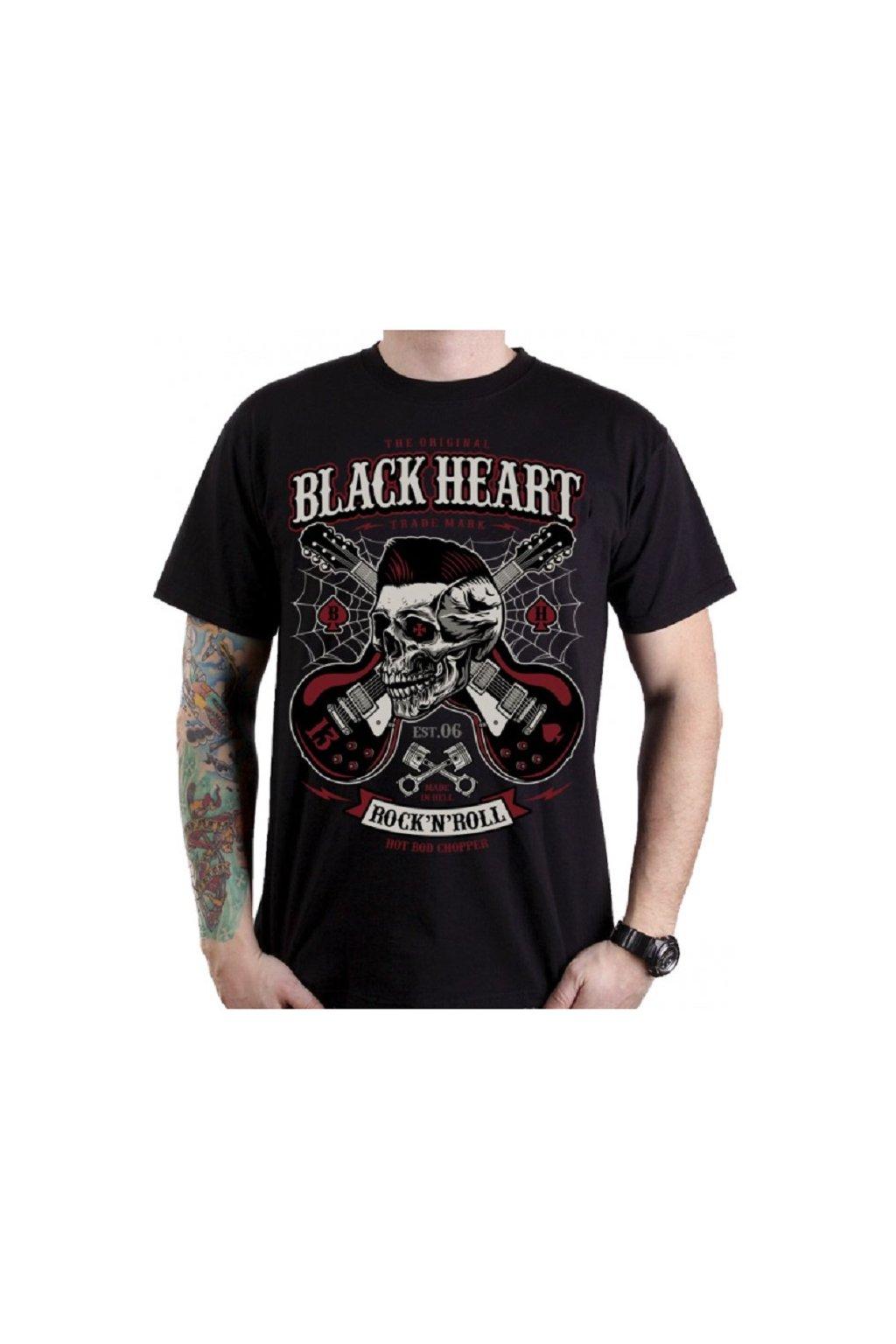 Pánské Triko BLACK HEART ROCKABILY BOY přední strana