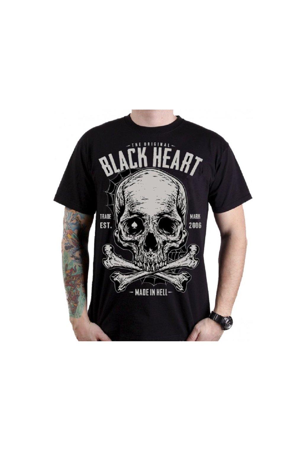 Pánské Triko BLACK HEART BONNER přední strana