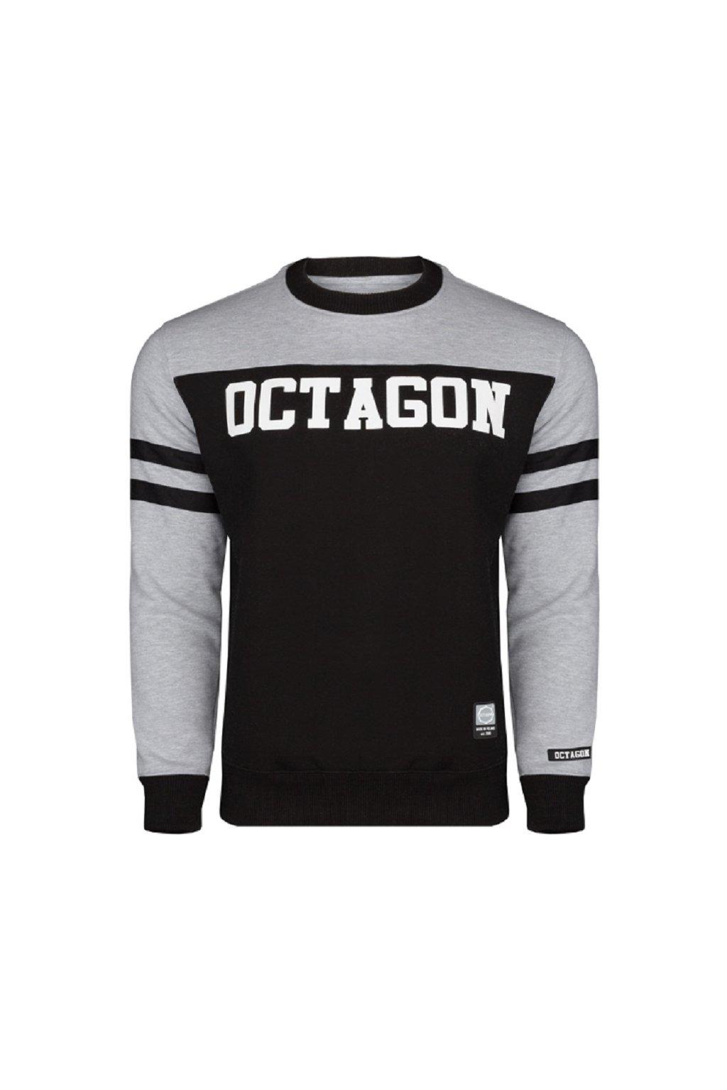 Pánská mikina OCTAGON LINE černo šedá obr1