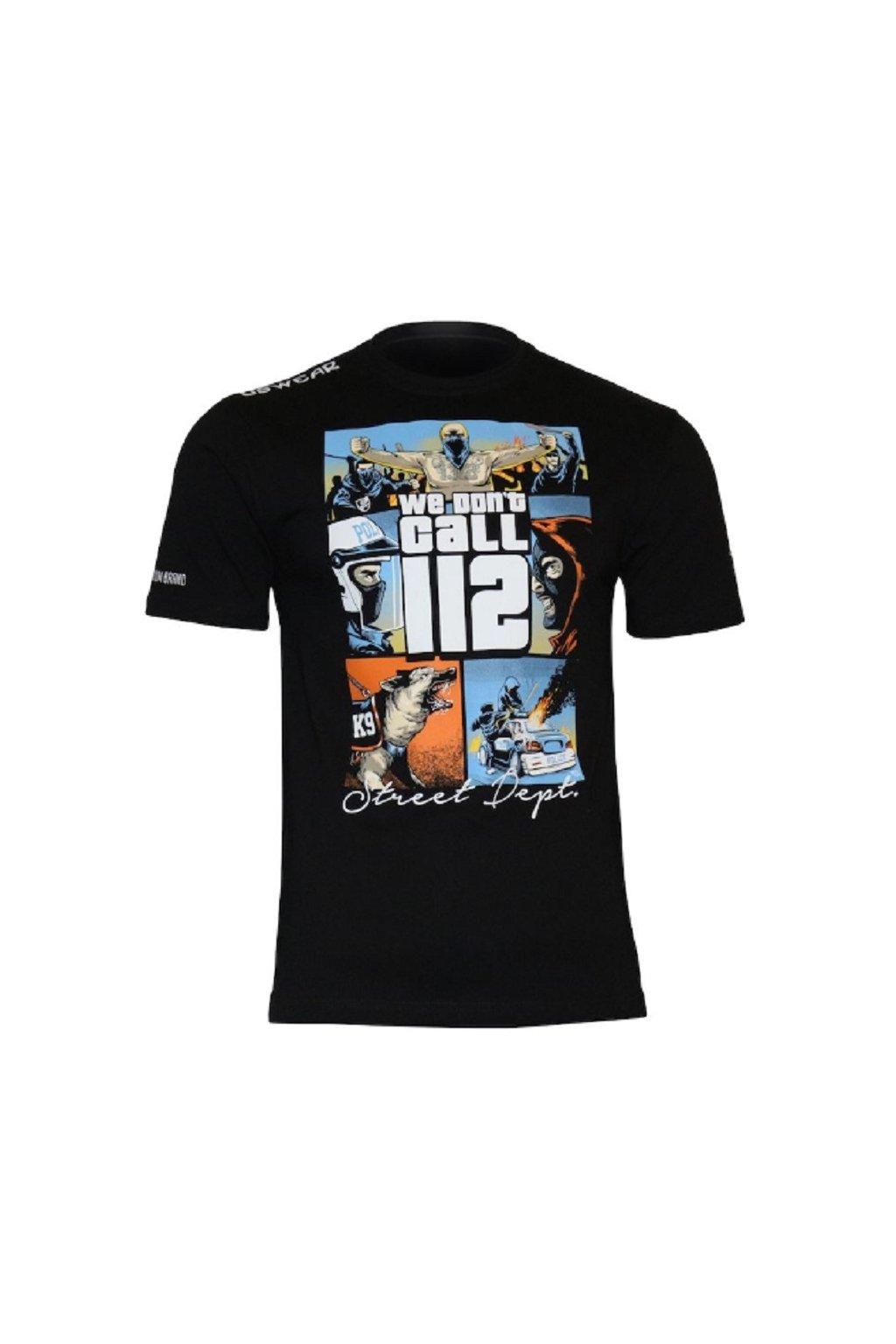 USWEAR pánské triko WE DON`T CALL 112 obr1