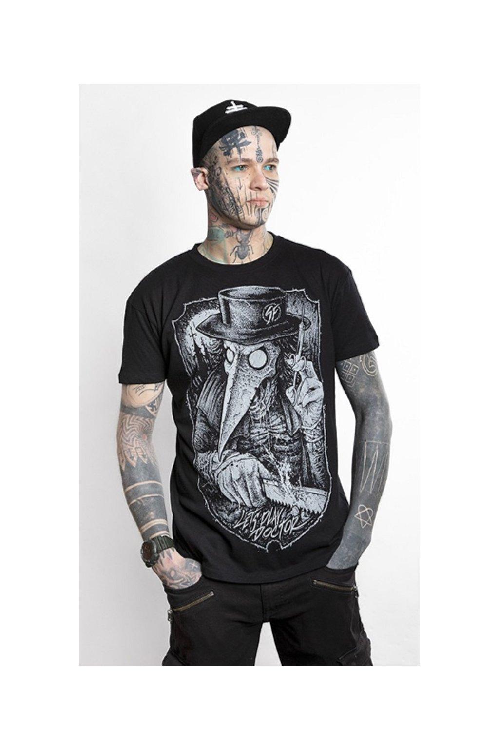 SickFace pánské triko Doctor obr1