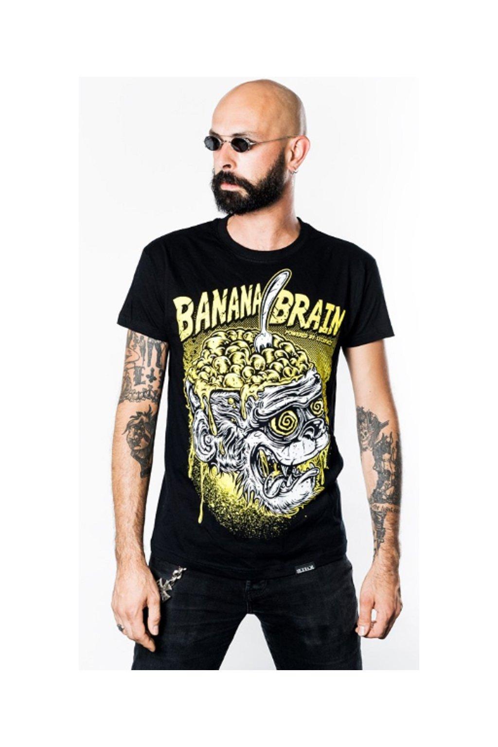 SickFace pánské triko Banana Brain obr1