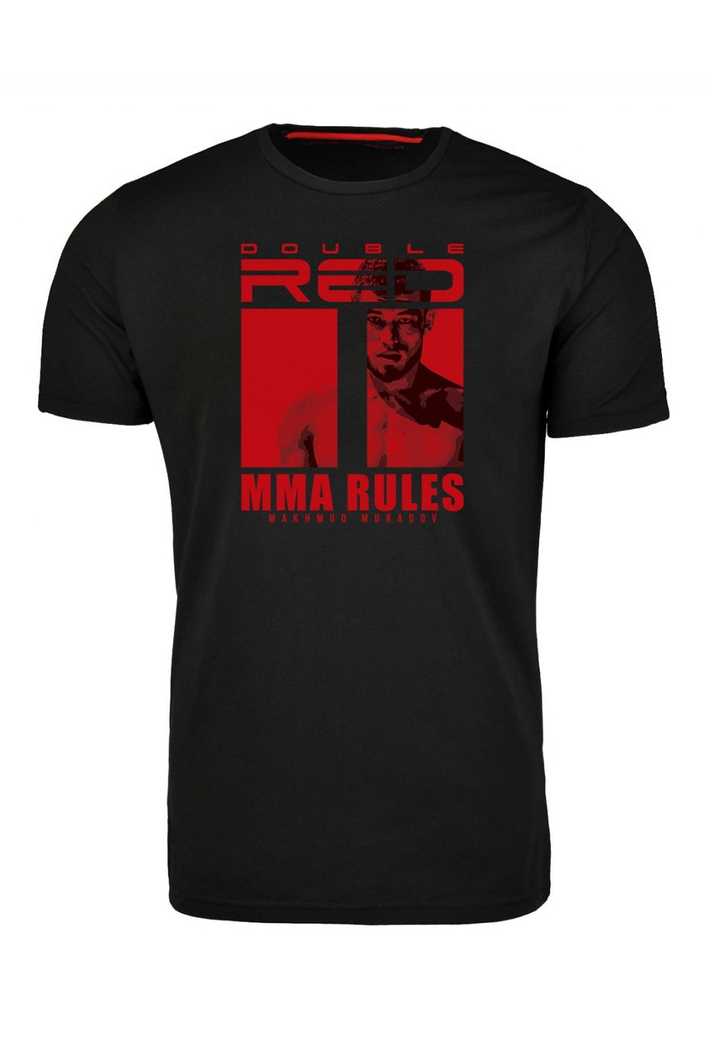 Double Red pánské triko MMA RULES MAKHMUD MURADOV Black obr1