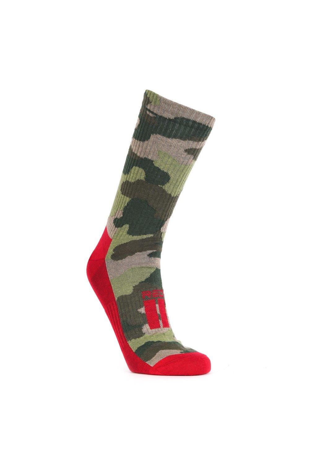 Ponožky THE RED SPORT Green Camo obr1