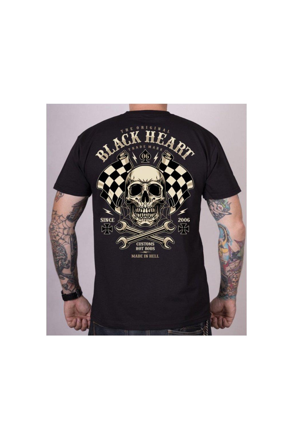 Pánské Triko BLACK HEART STARTER přední strana