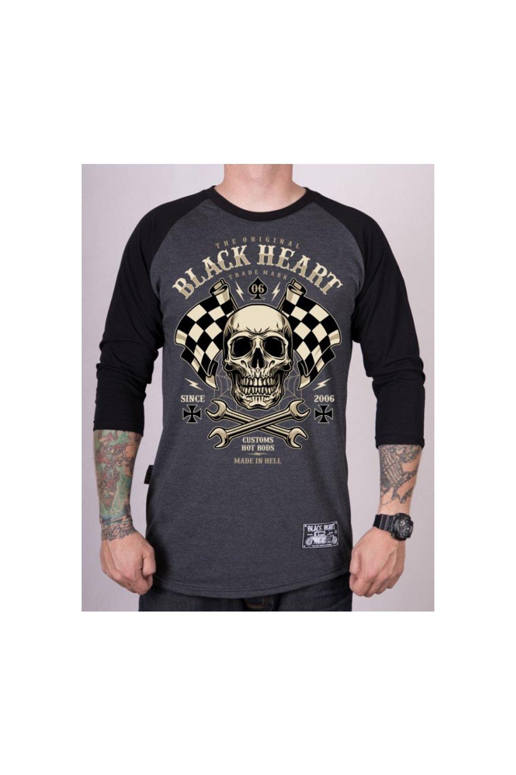 Pánské Triko BLACK HEART STARTER RG přední strana