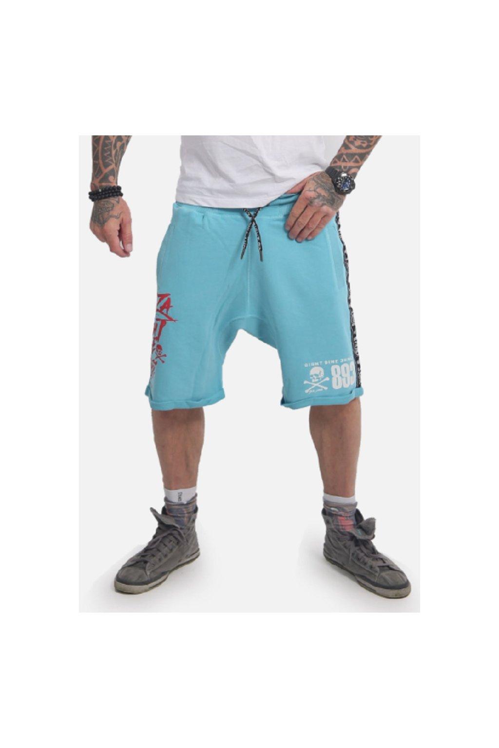 Pánské kraťasy Track Tape Sweat Shorts SSB 14034 blue obr1
