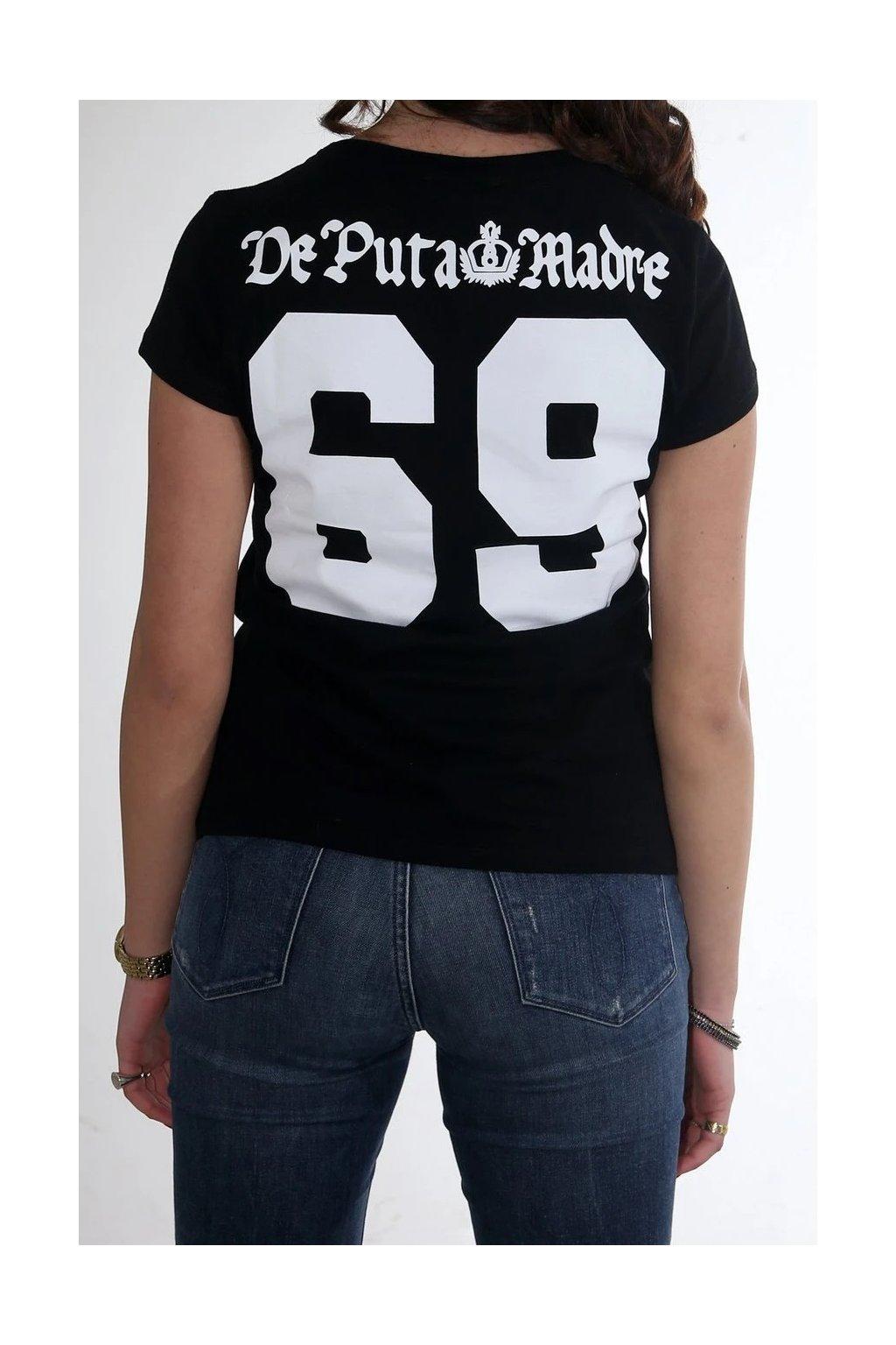 Dámské triko De Puta Madre 69 Printed 69 černé obr1