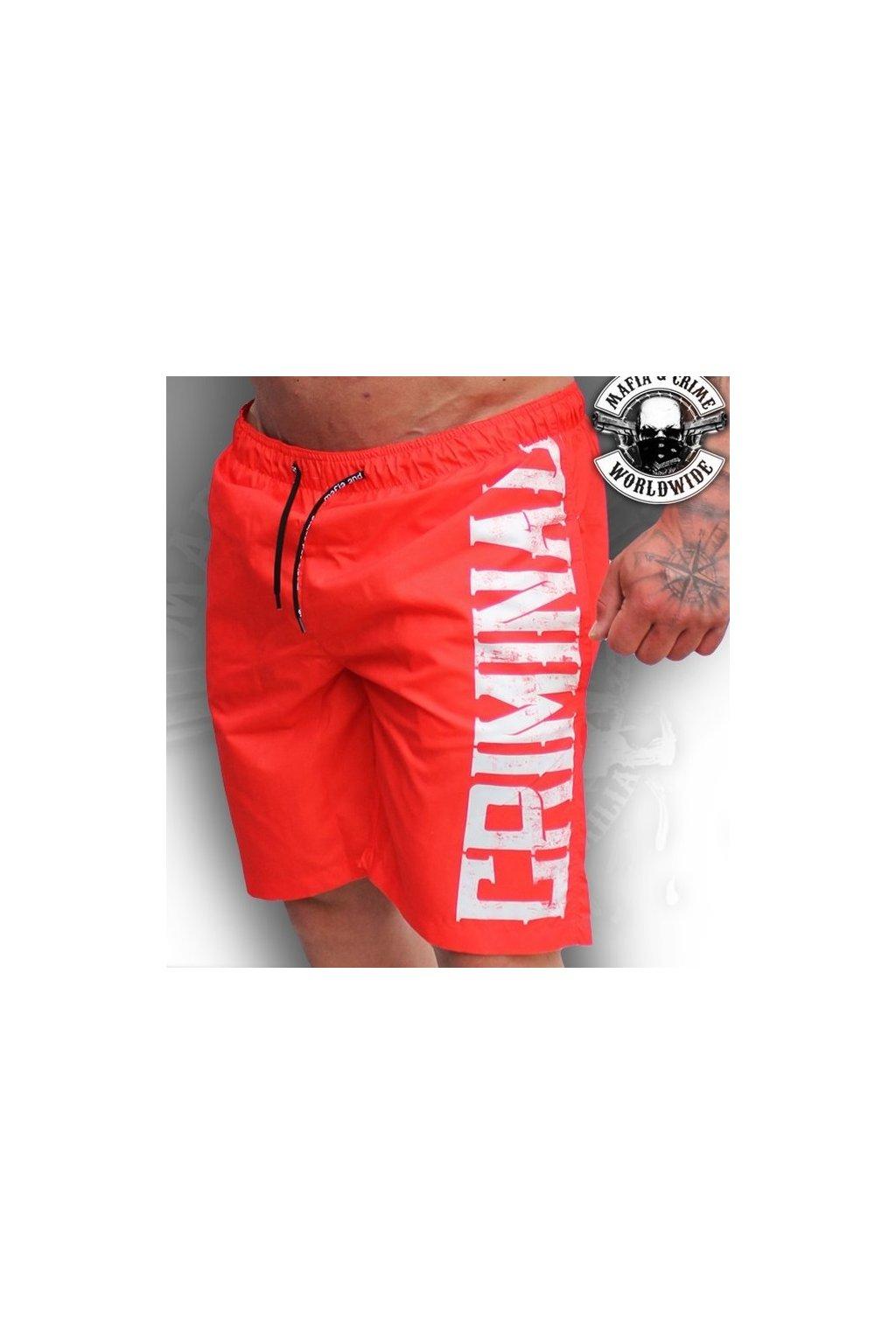 Pánské plavky Mafia & Crime 1312 červené obr1