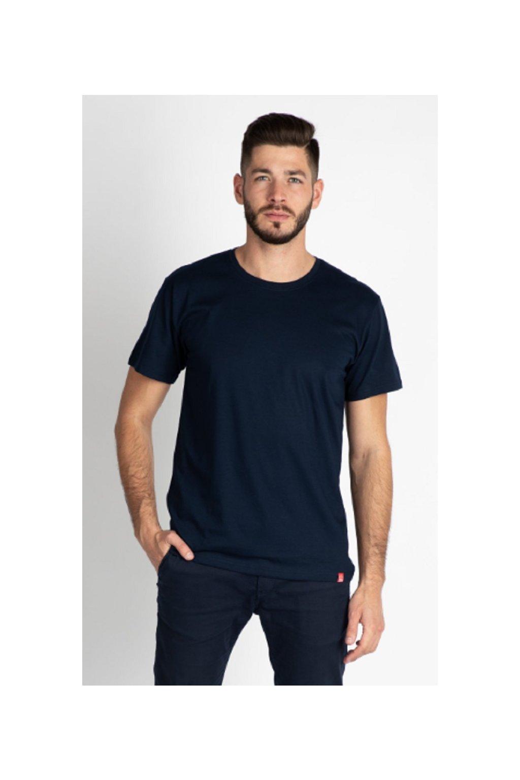 CityZen bavlněné triko Basic NAVY kulatý střih obr1