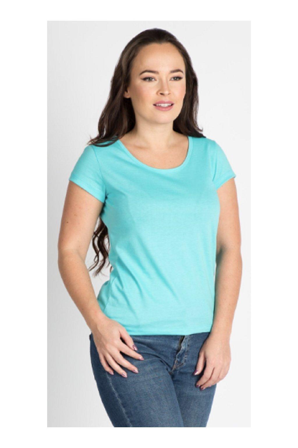 CityZen bavlněné dámské triko tyrkysové klasické obr1