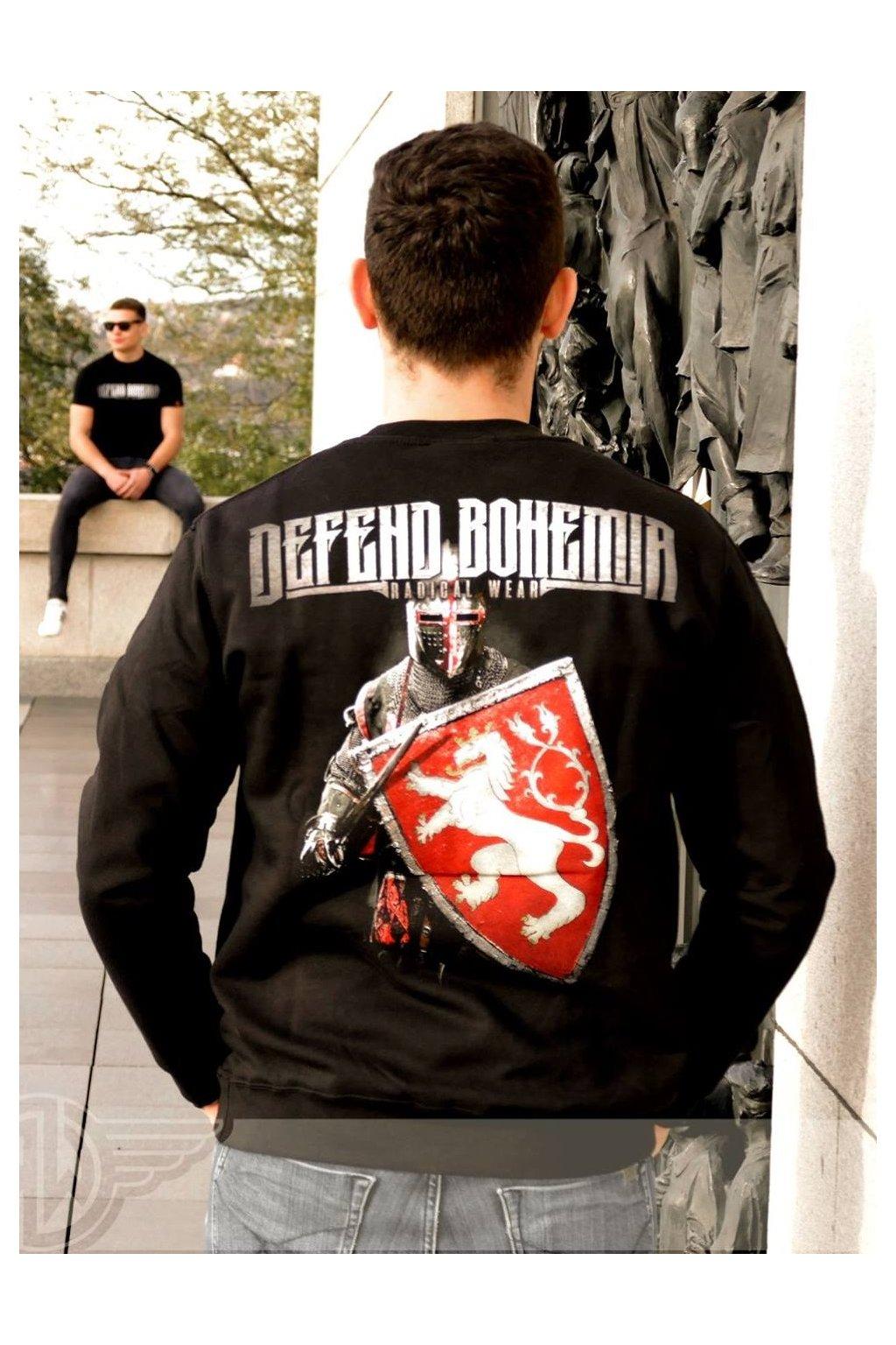 Pánská mikina Radical Defend Bohemia bez kapuce obr1