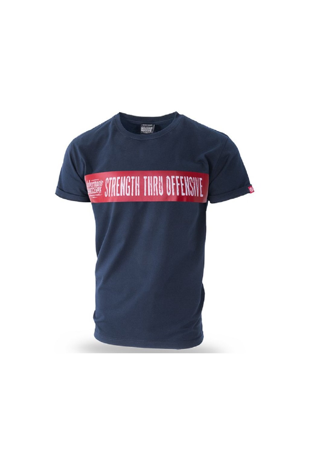 Dobermans Aggressive triko STRENGTH THRU OFFENSIVE modré obr1
