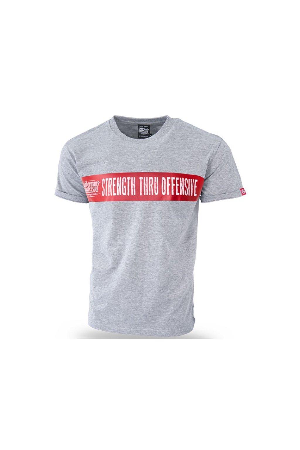 Dobermans Aggressive triko STRENGTH THRU OFFENSIVE šedé obr1
