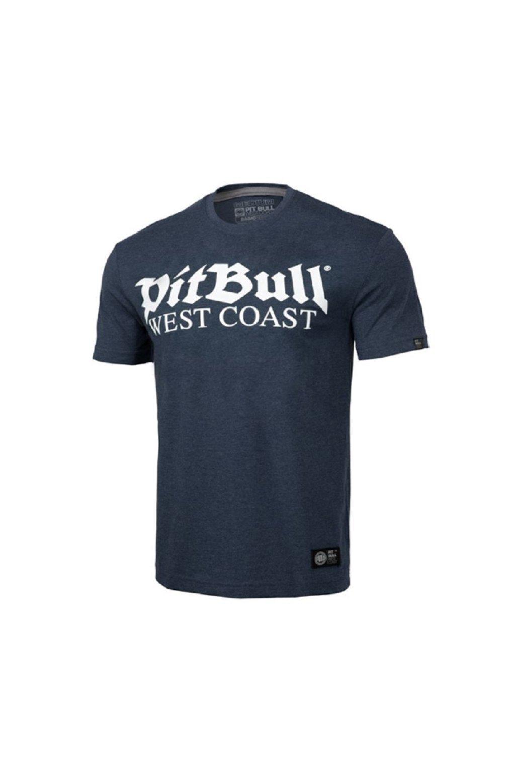 Pánské triko PIT BULL WEST COAST - OLD LOGO NAVY MELANGE obr1