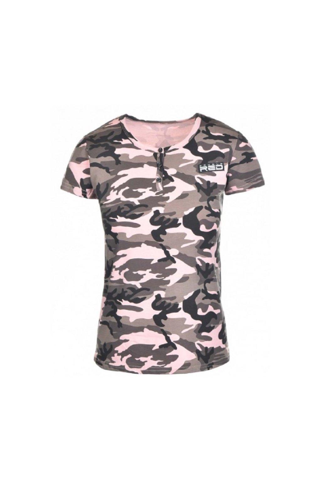 Double Red dámské T-Shirt Camodresscode Pink obr1