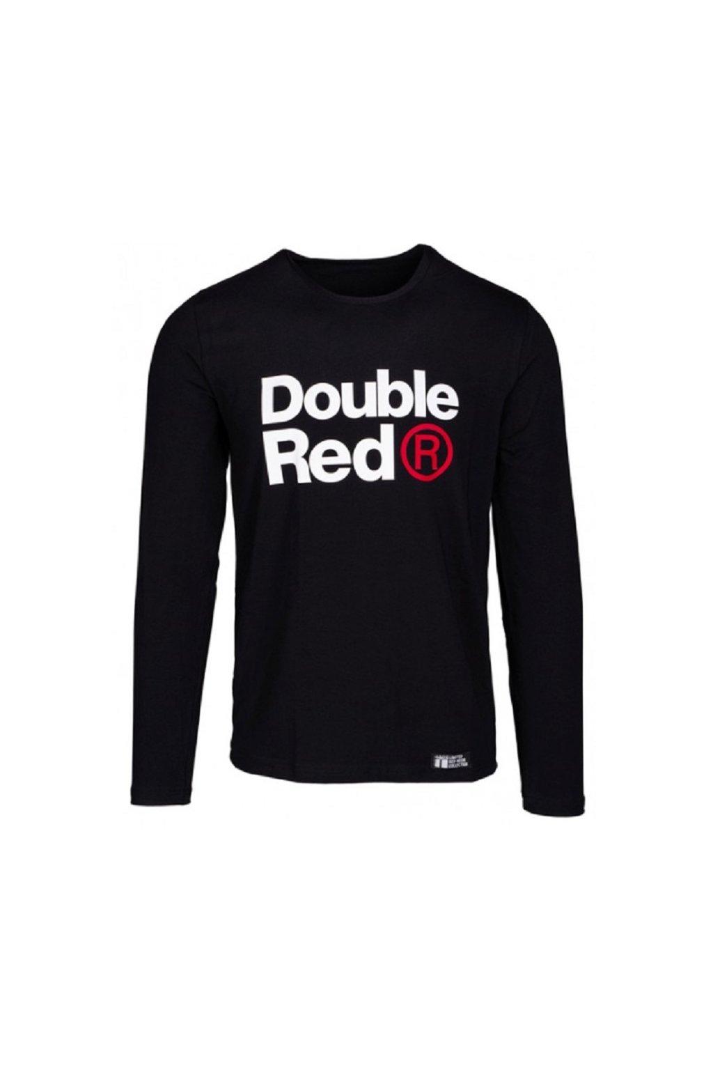 Double Red pánské triko s dlouhým rukávem Red Neon Long Sleeve černé obr1