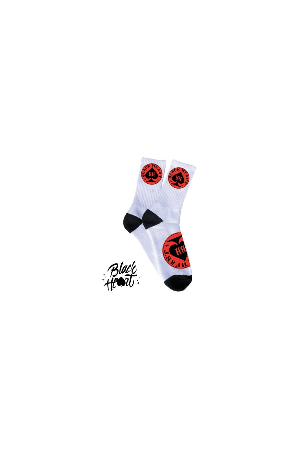 Ponožky BLACK HEART RED ACE přední strana