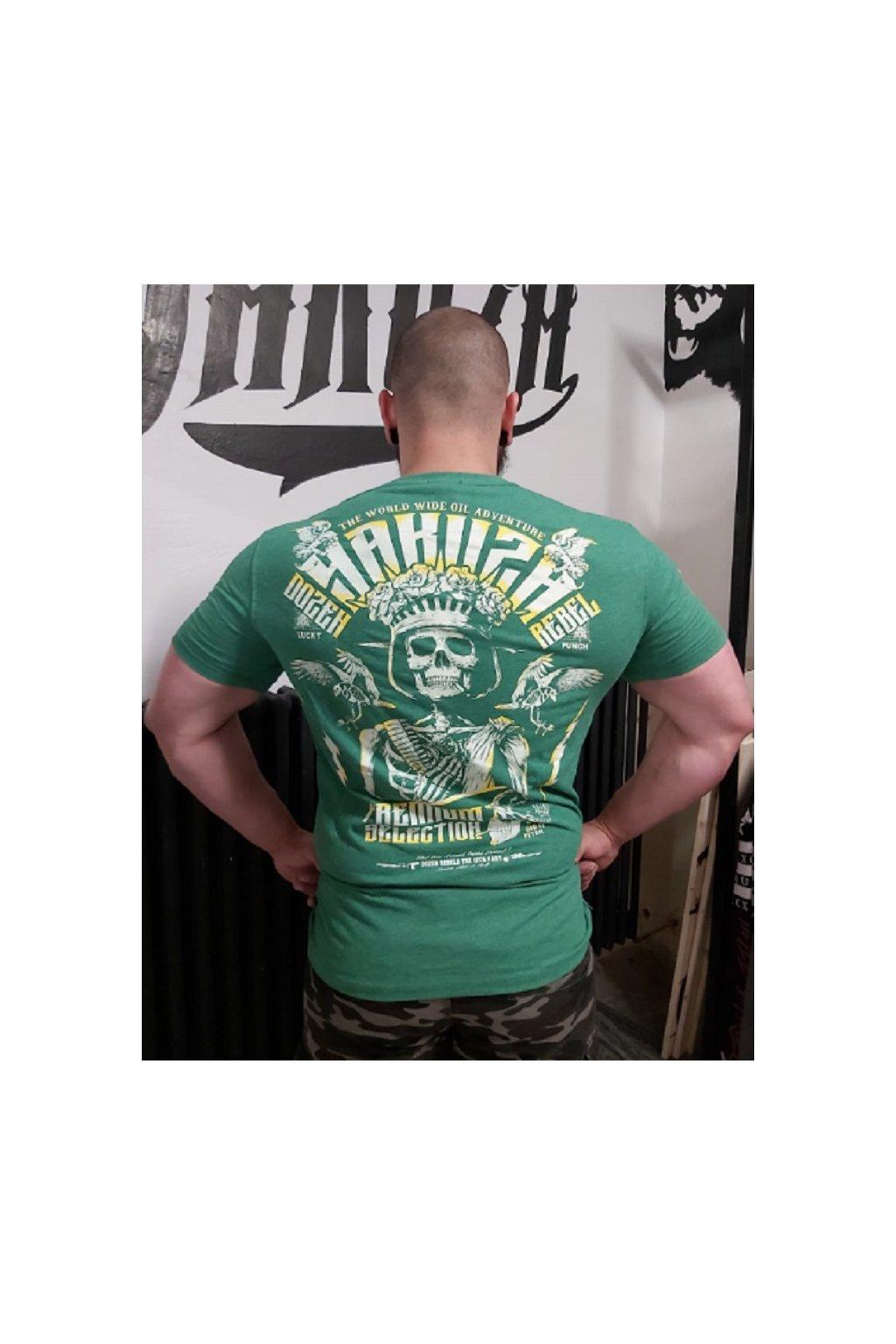 Yakuza Premium pánské triko Rebel zelená obr1