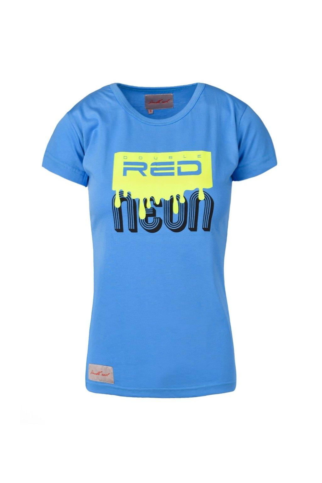 Dámské triko DOUBLE RED NEON BLUE obr1