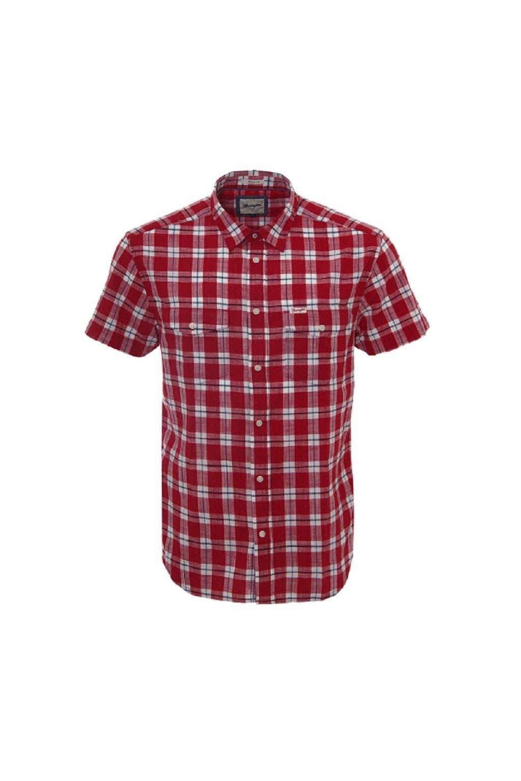 Pánská košile Wrangler Wrangler s/s 2pkt flap shirt obr1