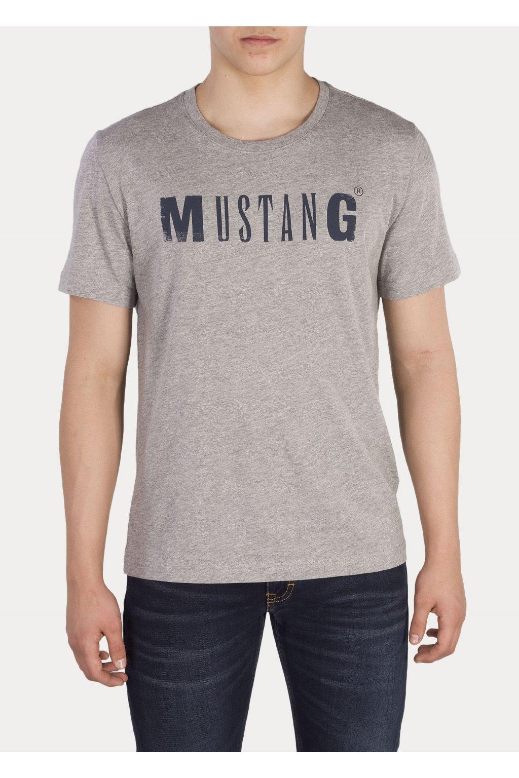 Pánské Triko Mustang- šedá obr1