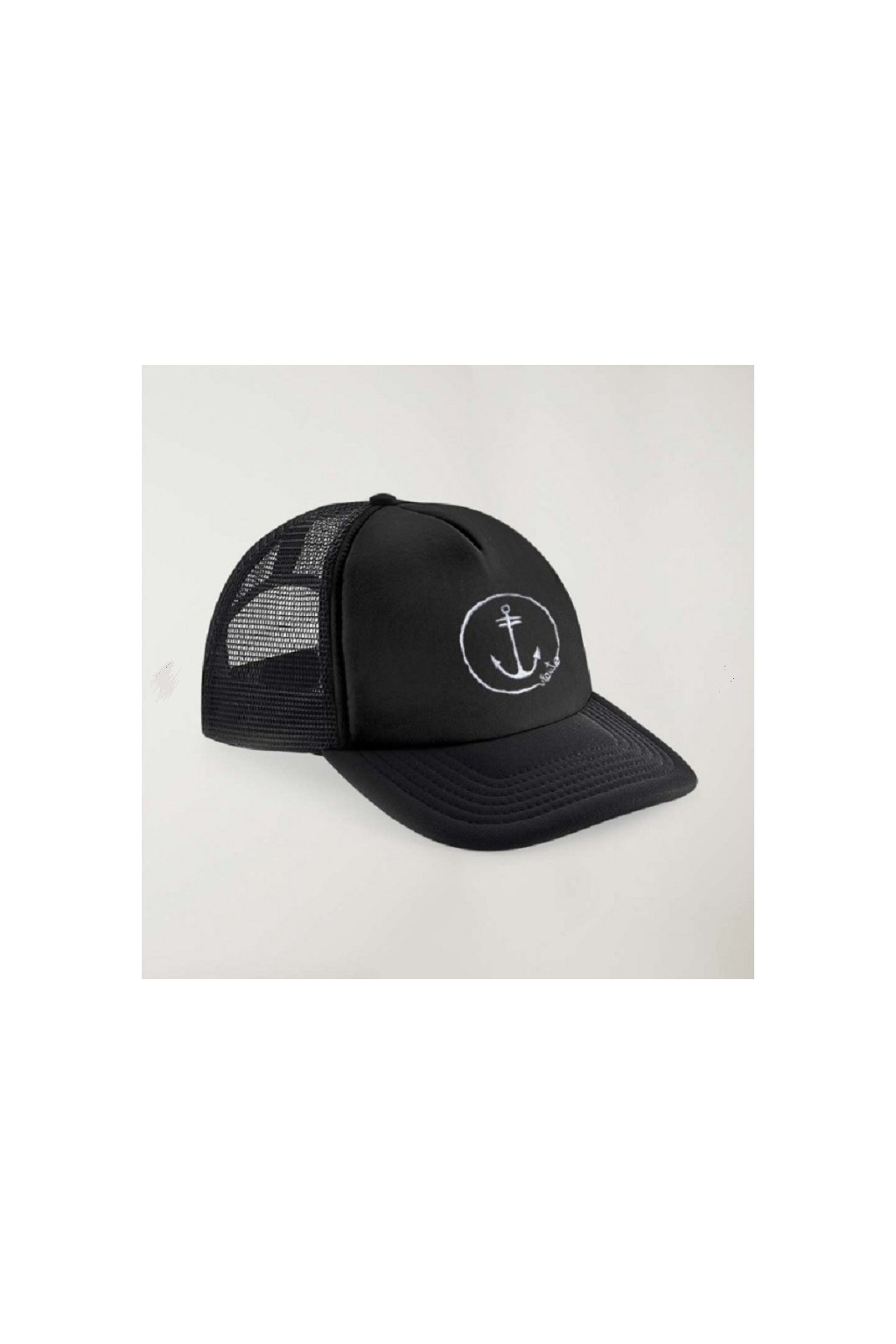 KŠILTOVKA VIENTO TRUCKER CAP BLACK ANCHOR LOGO black obr1