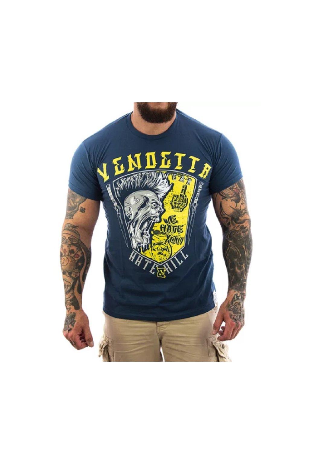 Pánské Tričko Vendetta Inc. Hate & Kill VD-1105 modrá obr1