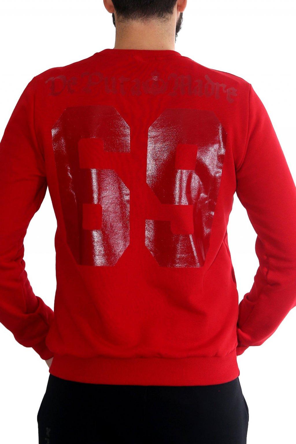 Pánská mikina De Puta Madre 69 Sport červená obr1