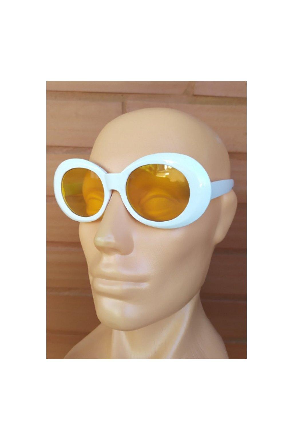 Dámské sluneční brýle retro bílé obr1