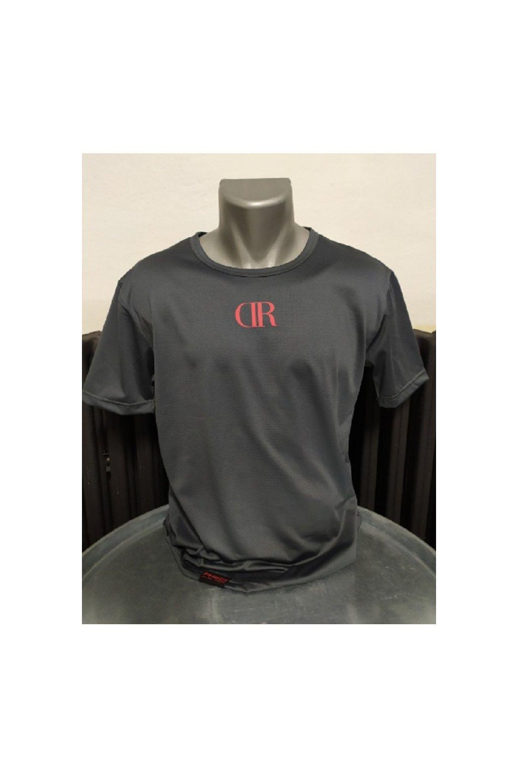 Pánské triko Double Red Logo small šedá obr1