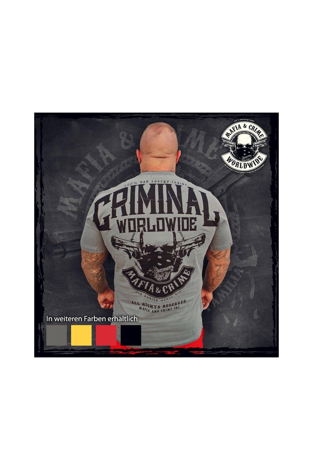 Mafia & Crime pánské triko Bad Energy NEW šedá obr1