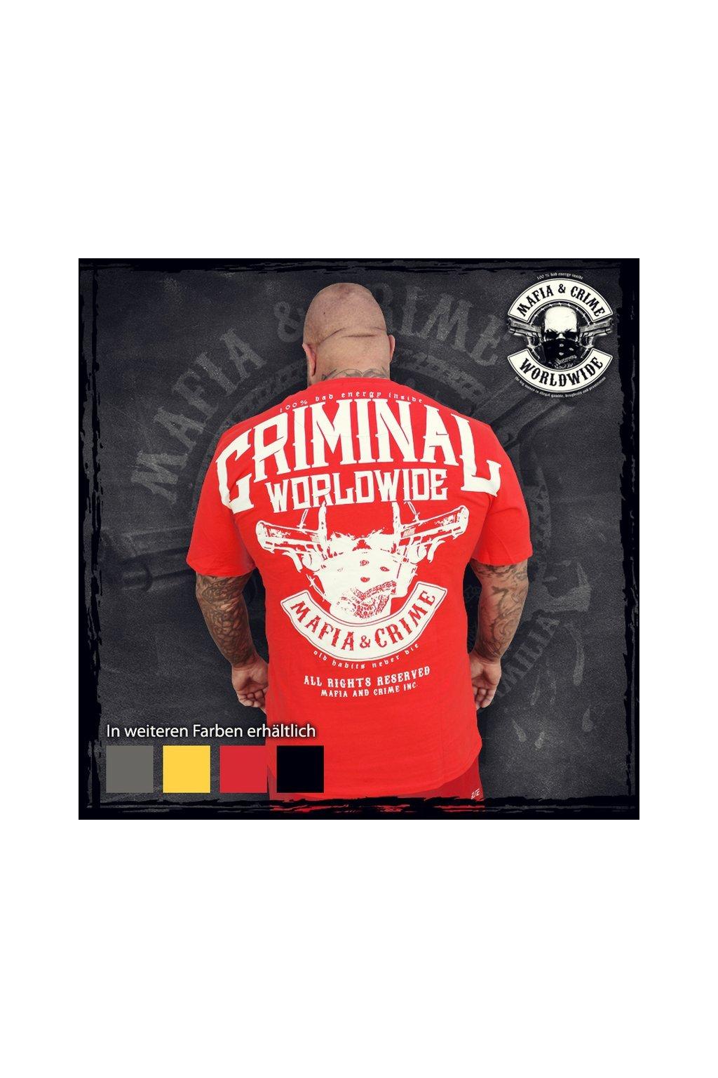 Mafia & Crime pánské triko Bad Energy NEW červená obr1
