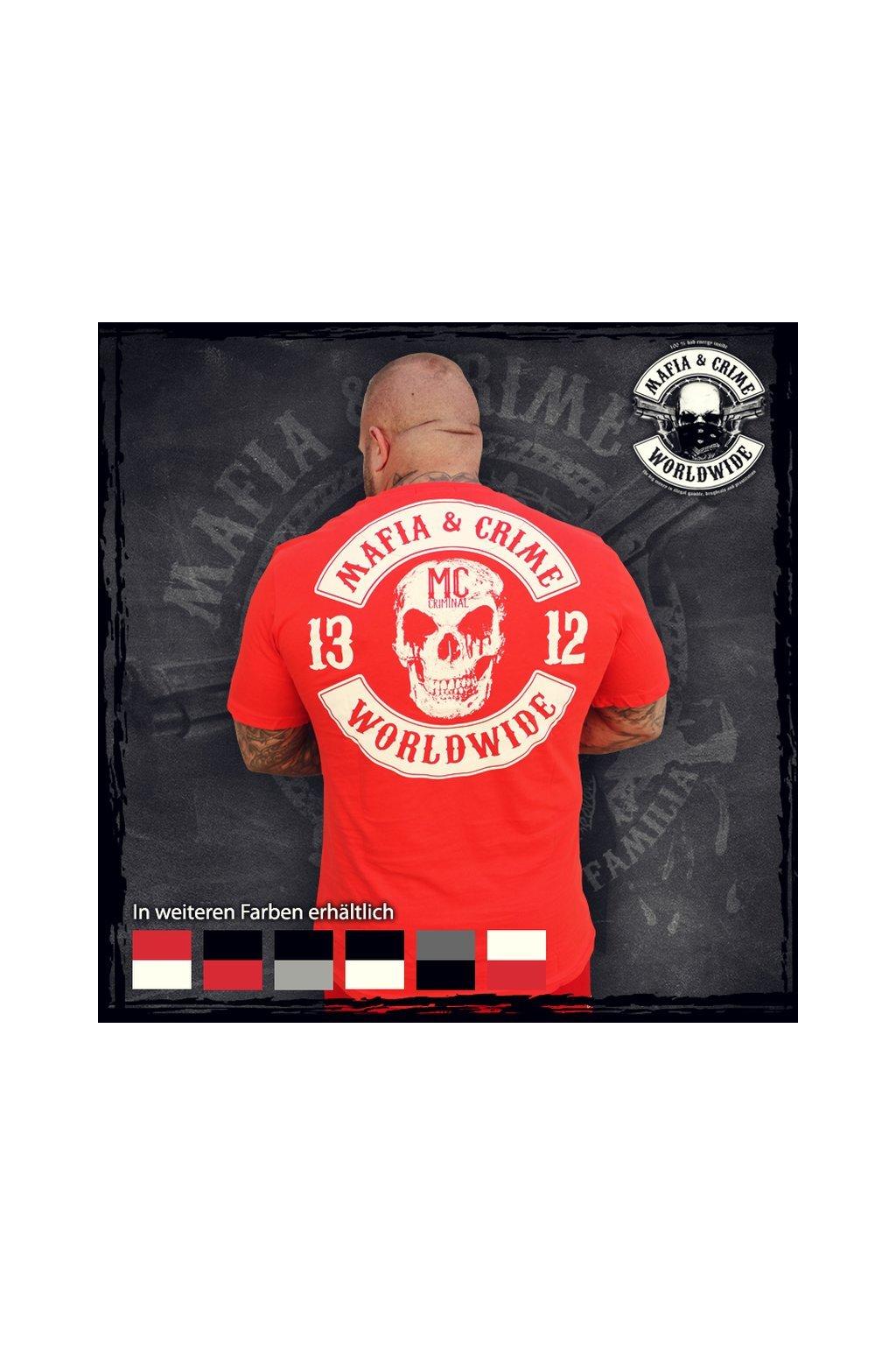 Mafia & Crime pánské triko MC 1312 červená obr1