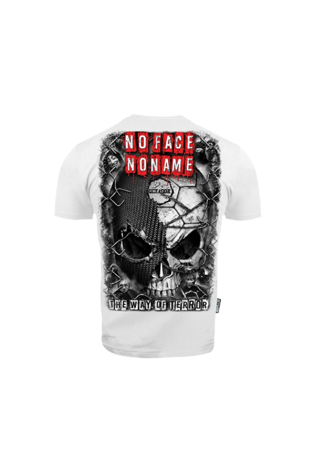 Pánské tričko OCTAGON THE WAY OF TERROR BÍLÁ obr1