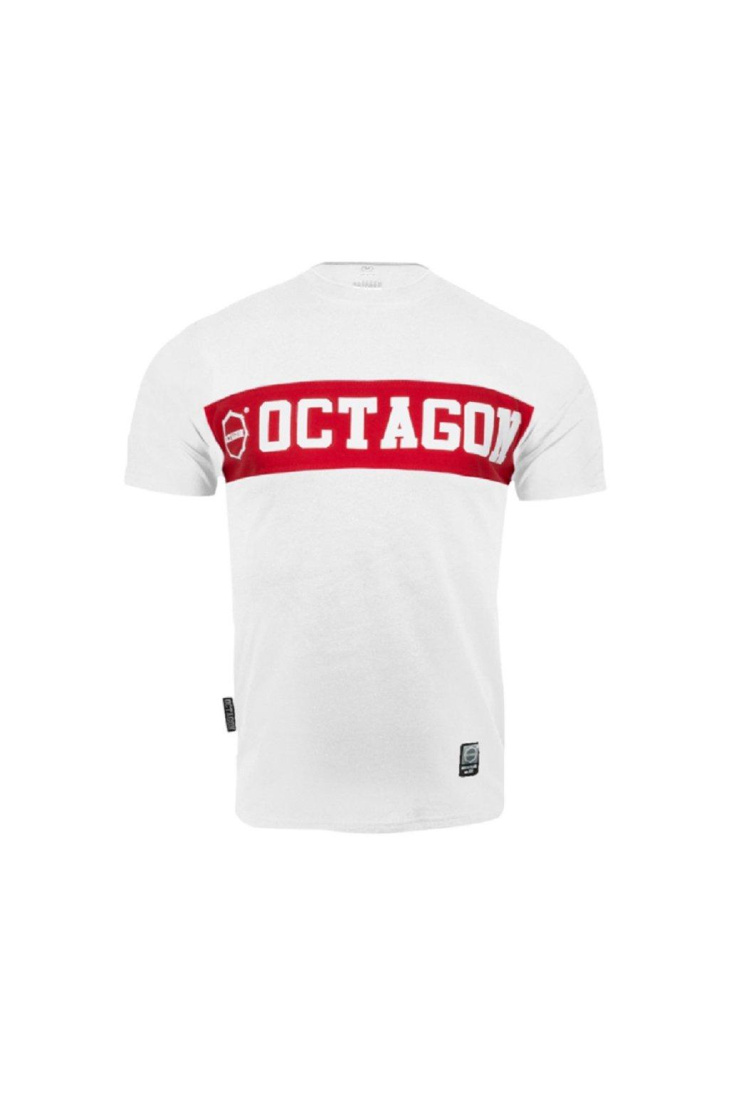 Pánské tričko OCTAGON MIDDLE WHITE obr1