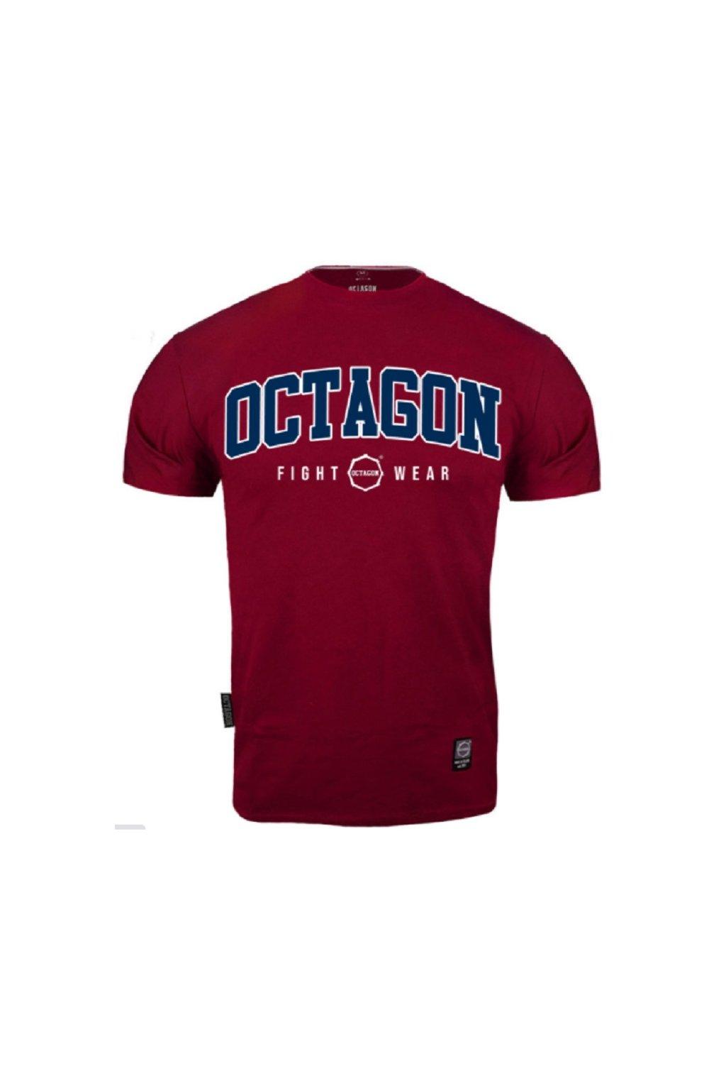 Pánské tričko OCTAGON FW BURGUND obr1