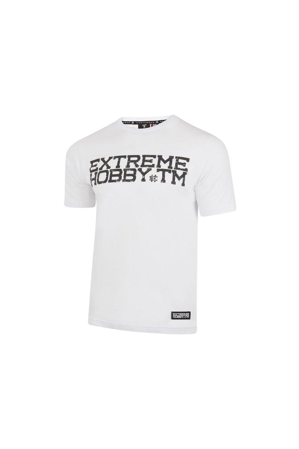 Pánské triko EXTREME HOBBY Brushed Block bílá obr1