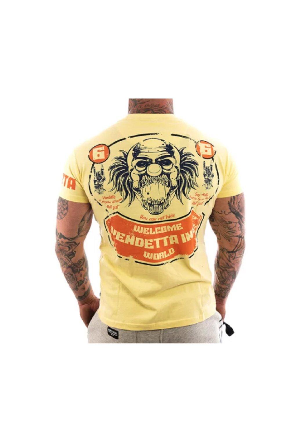 Pánské triko Vendetta Hell Fest 1108 žlutá obr1