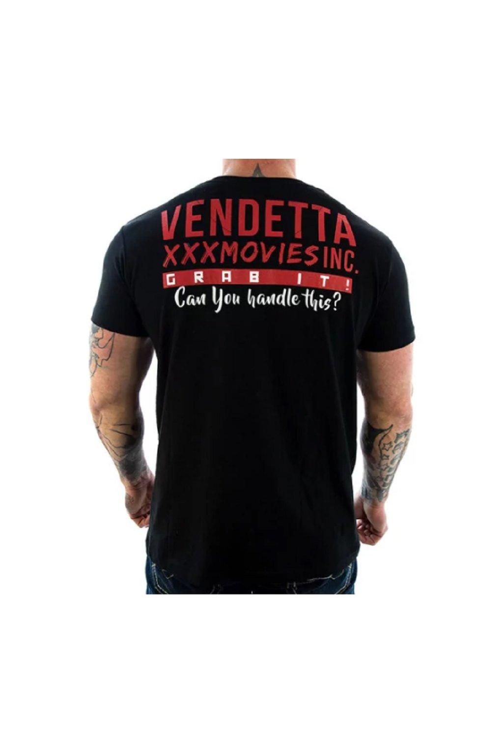 Pánské triko Vendetta XXX Movies 1048 Black obr1