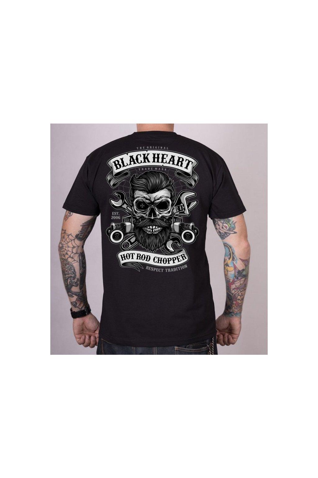 Pánské triko Black Heart Respect Tradicion přední strana