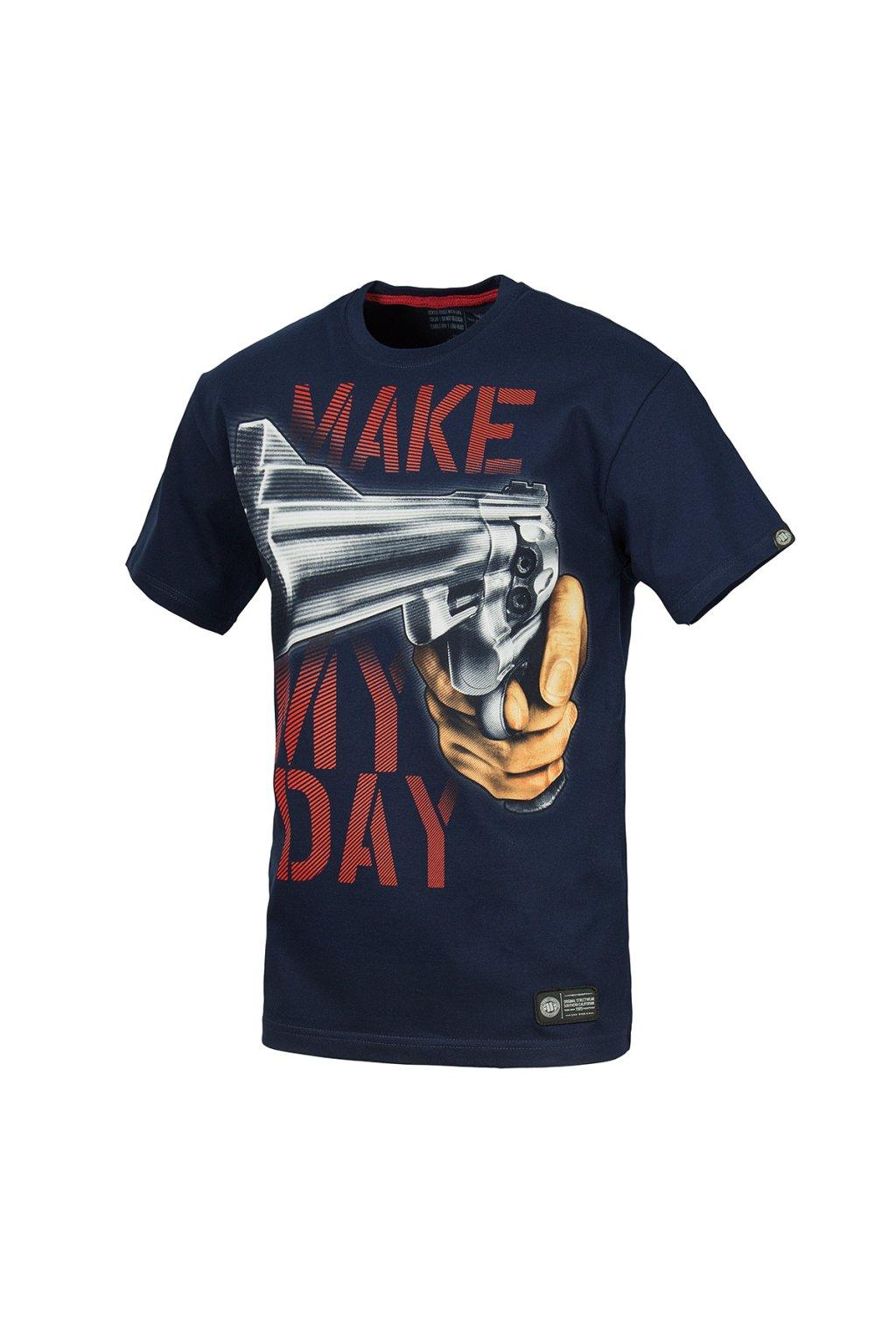 Pánské triko PIT BULL WEST COAST - MAKE MY DAY 16 Navy obr1