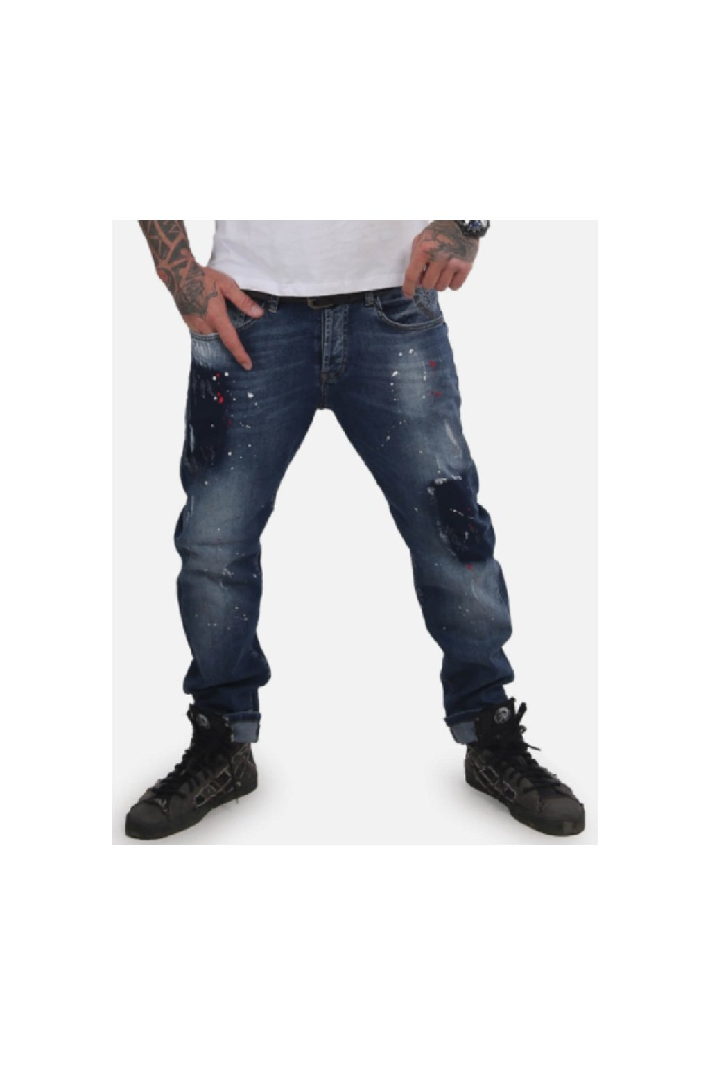 Yakuza pánské jeans Destroyer Straight JEB 15044 Blue Havoc obr1