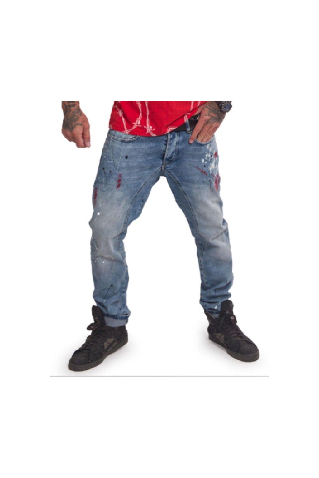 Yakuza pánské jeans Shards Straight JEB 16066 light blue obr1