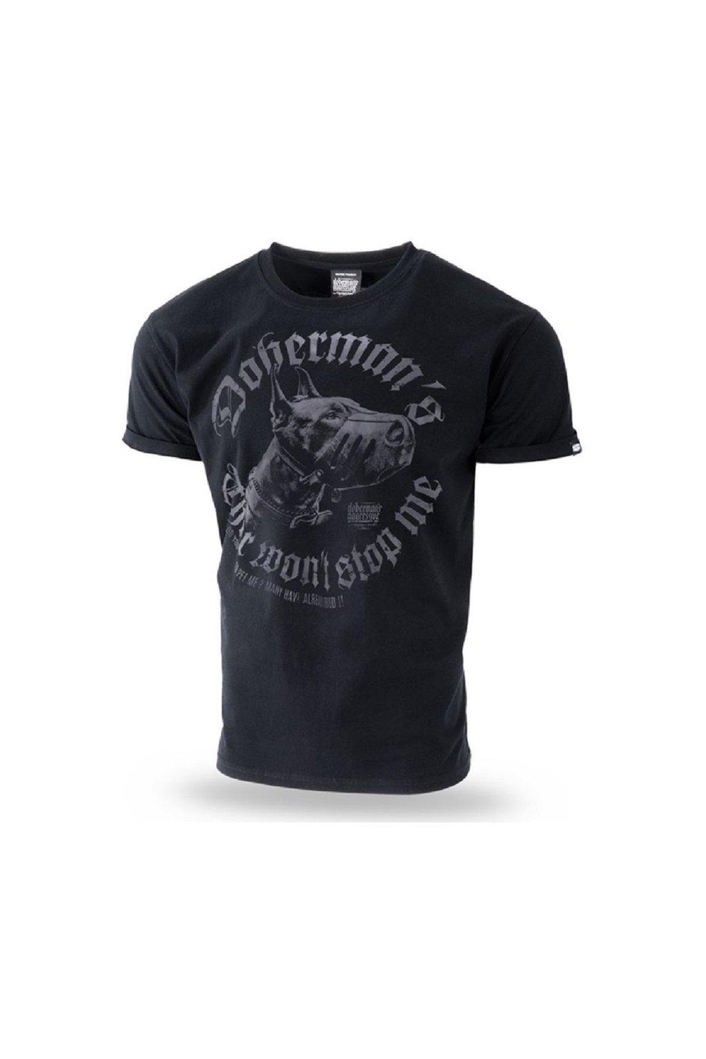 Dobermans Aggressive triko DDANGEROUS DOG černá obr1