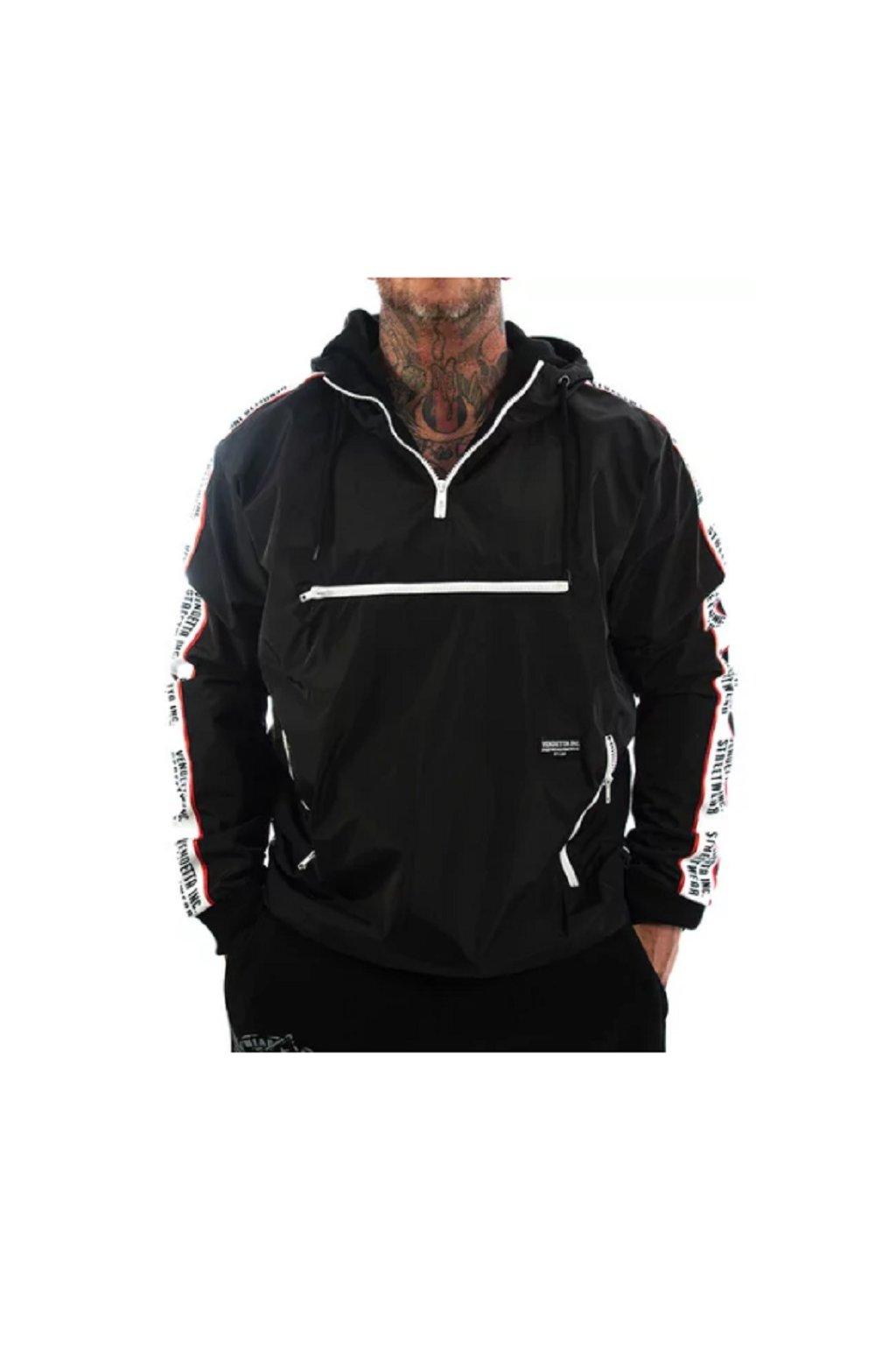 Pánská bunda s kapucí vendetta VD-8003 black obr1