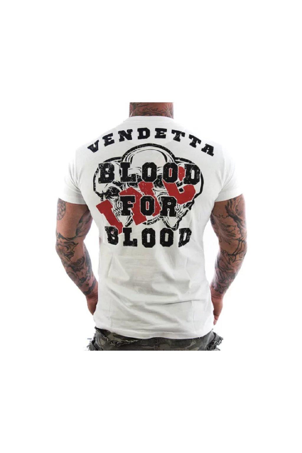 Pánské triko Vendetta Blood 1119 White obr1
