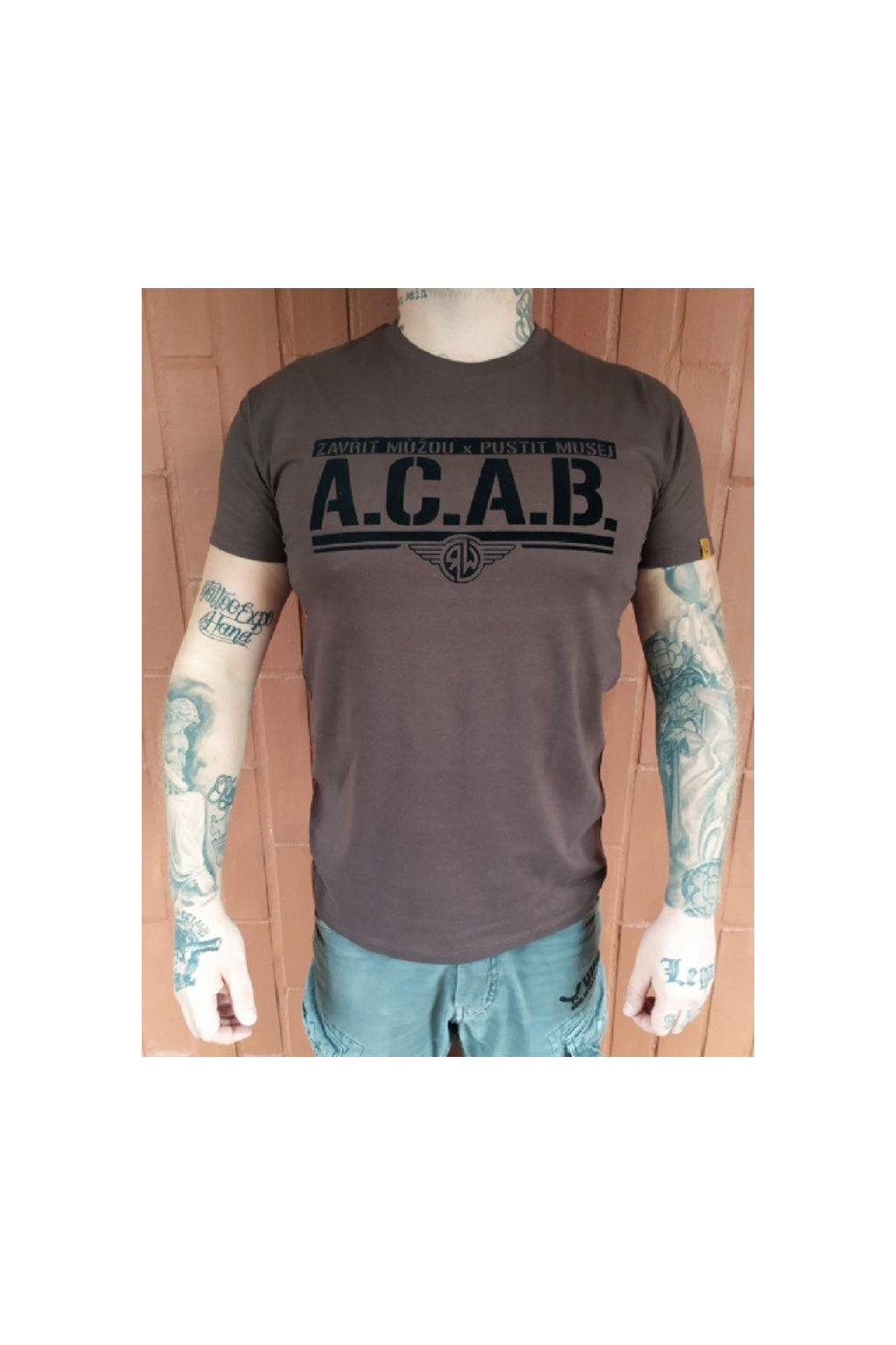 Pánské triko Radical Wear ACAB Hnědá obr1