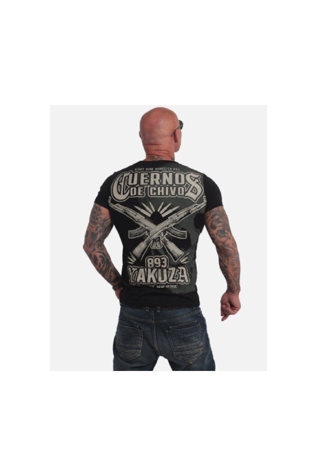 Pánské triko Yakuza Cuernos De Chivo Skull TSB 17082 černá obr1