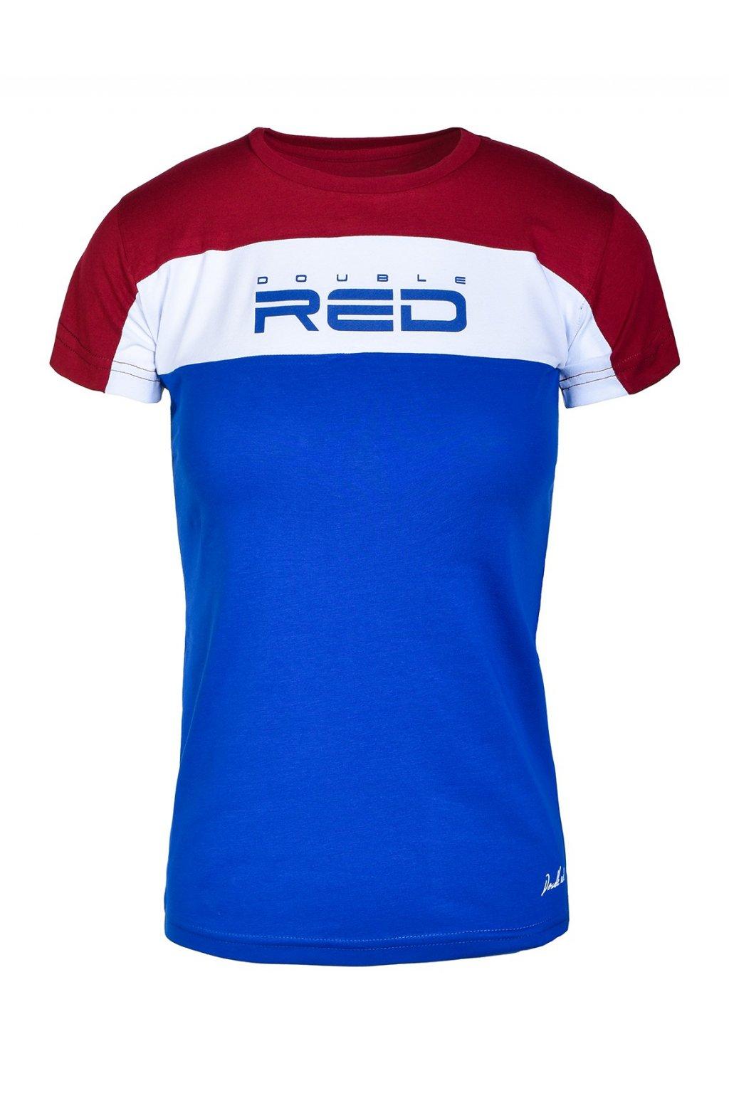 Double Red dámské triko OUTSTANDING Bordeaux/Blue obr1